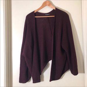 BRANDY MELVILLE  burgundy open front cardigan